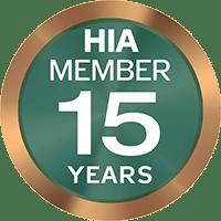 HIA Member 15 years