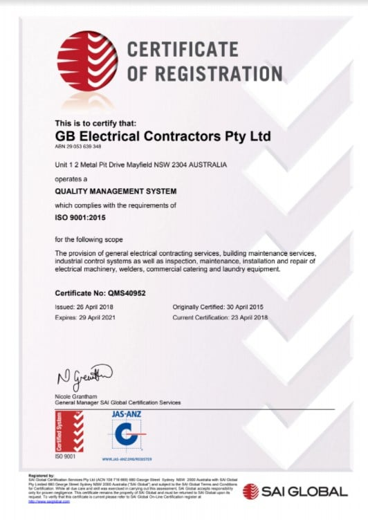 QMS Certificate of Registration